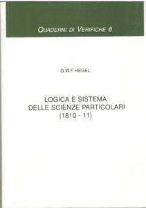 Logica e sistema delle scienze particolari (1810-11)