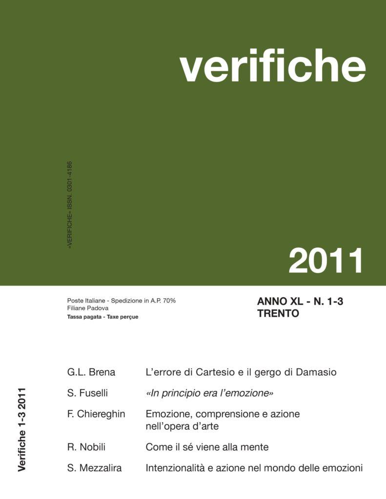 Verifiche Anno XL, N. 1-3, 2011