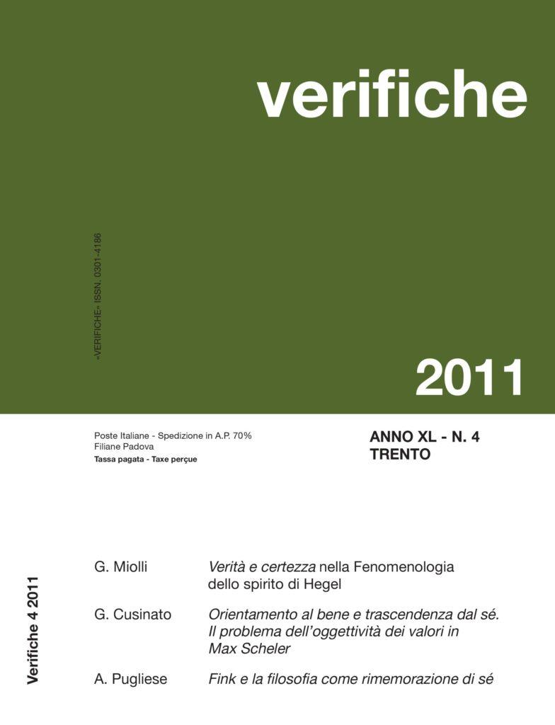 Verifiche Anno XL, N. 4, 2011