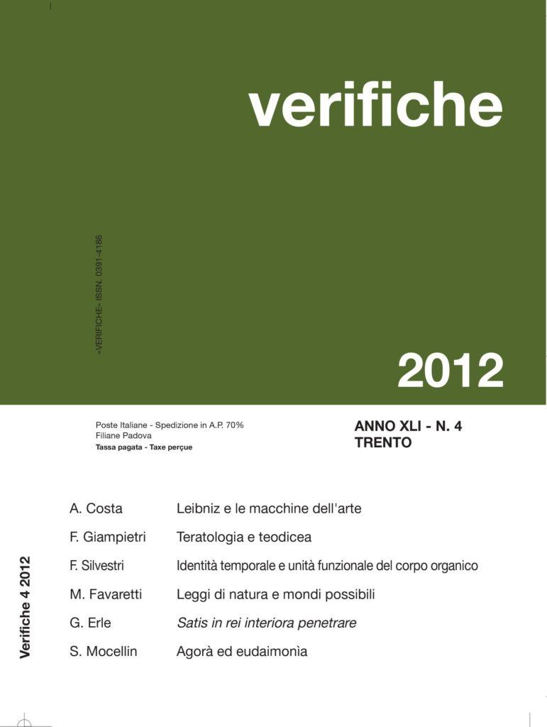 Verifiche Anno XLI, N.4, 2012