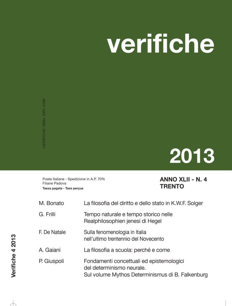Verifiche Anno XLII, N. 4, 2013