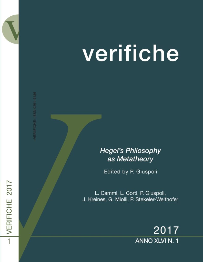 Hegel's Philosophy as Metatheory
