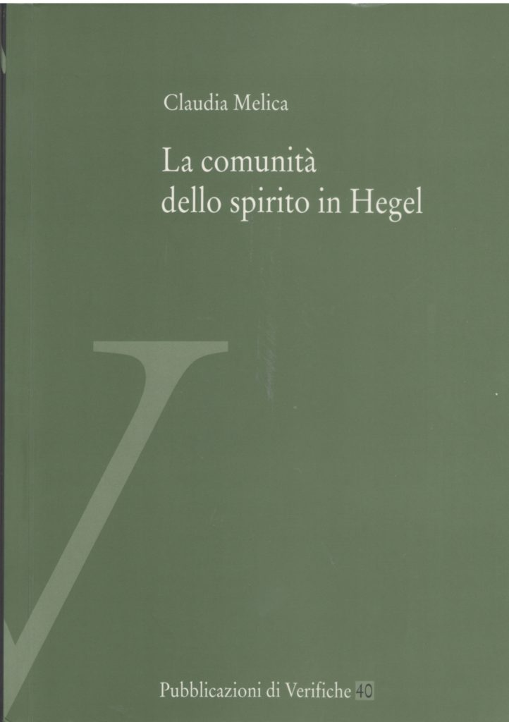 La comunità dello spirito in Hegel