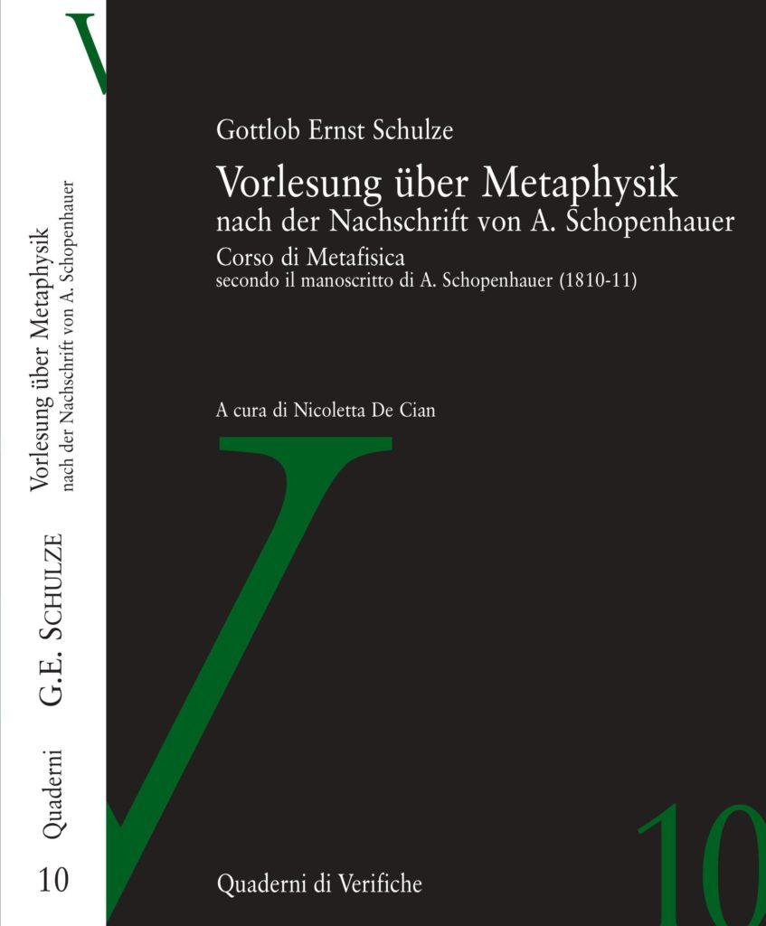 Vorlesung über Metaphysik nach der Nachschfrift von A. Schopenhauer